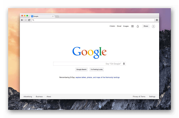 Картинка Google Chrome на Mac OS