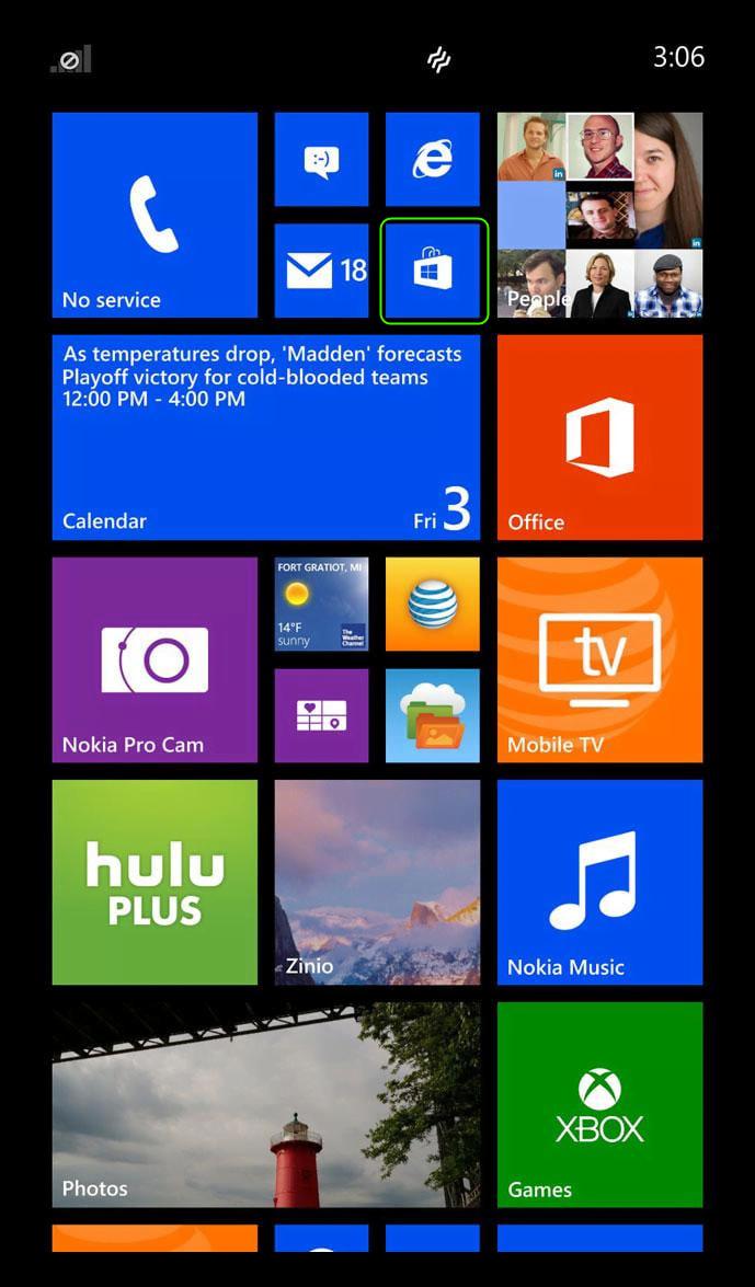 Запуск Microsoft Store в Windows Phone