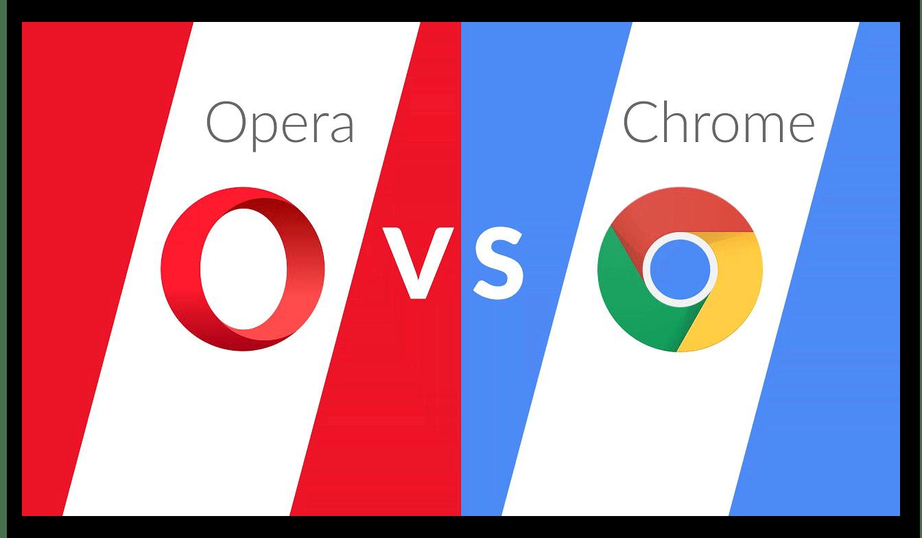 Картинка Opera или Google Chrome