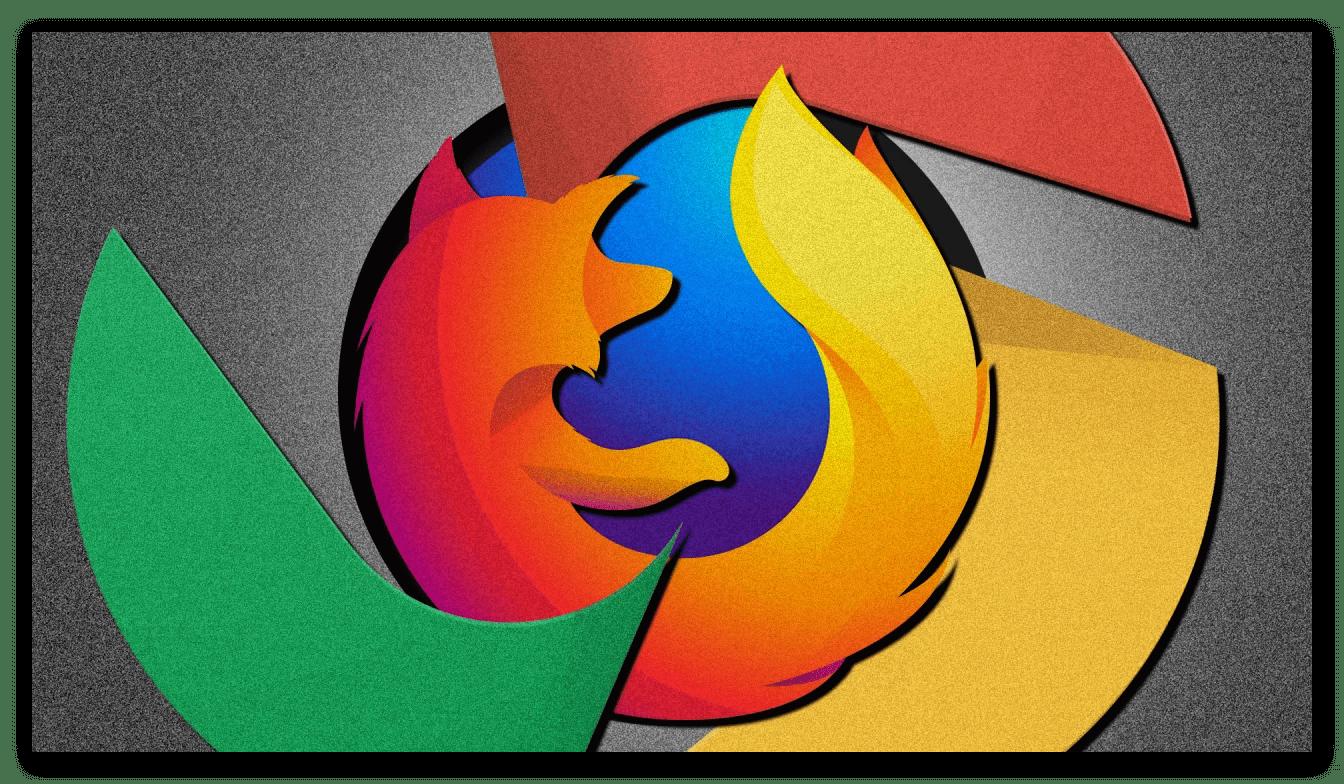 Стильная картинка Mozilla Firefox vs Google Chrome