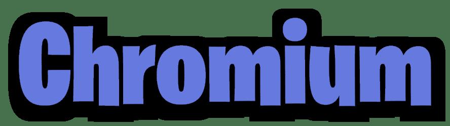 Картинка Надпись Chromium