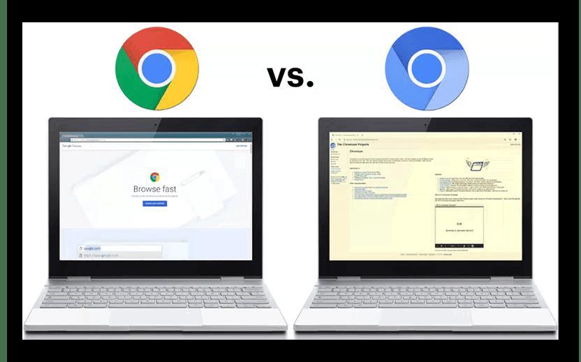 Картинка Сравнение Chromium и Google Chrome