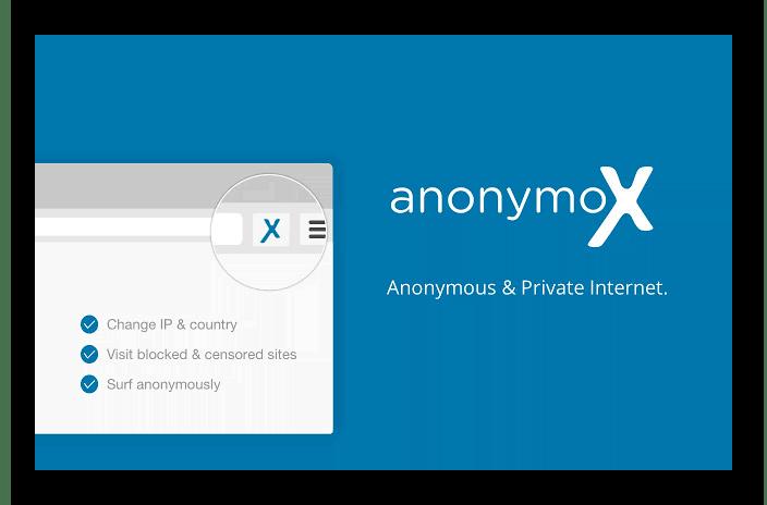 Изображение Расширение anonymoX