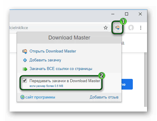 Активация расширения Download Master для Google Chrome