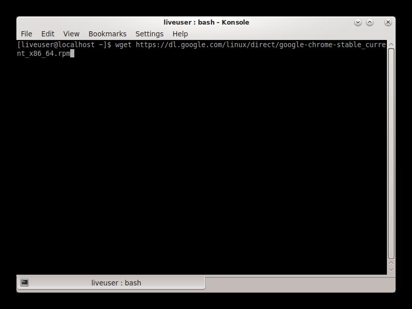 Загрузка дистрибутива Google Chrome для Linux CentOS