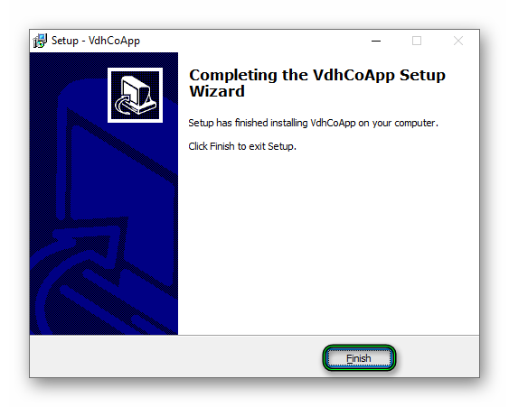 Завершение установки Video DownloadHelper Companion App